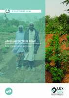 Développement local | Appui au secteur privé
